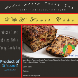 fruit cake label
